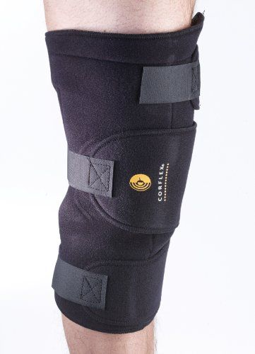 Corflex Cryotherm Knee Wrap  Knee Brace with Ice Pack3 Pockets 6 Gels  Black *** Check this awesome product by going to the link at the image.