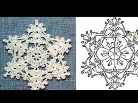 How to crochet a openwork snowflake. Ажурная снежинка крючком - YouTube