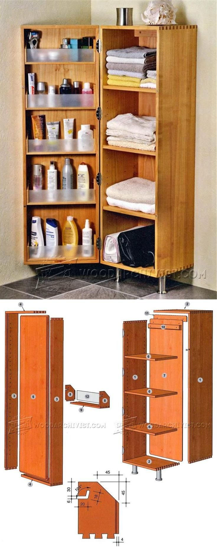 bathroom corner cabinet plans furniture plans and projects - Corner Bathroom Cabinet