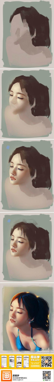 【绘画教程】美女绘画教程一枚~作者@肖吉...