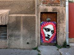 TKV (Walls of Belgrade) Tags: belgrade beograd streetart serbia pasteup door graffiti mural tkv