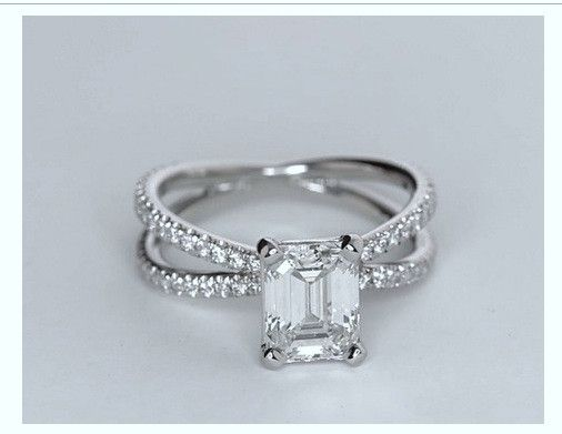 1.93ct Emerald cut diamond Engagement Ring GIA certified H-VS2 18kt White Gold JEWELFORME BLUE 900,000 GIA CERTIFIED diamonds