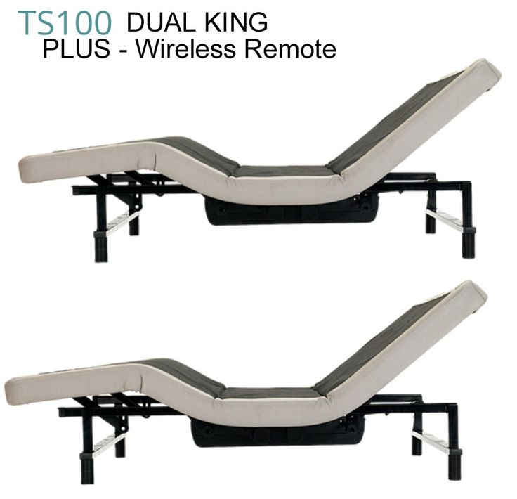Dual King Size Transitional Sleep Systems TS100 Plus Split King Adjustable bed bases Wireless Remote