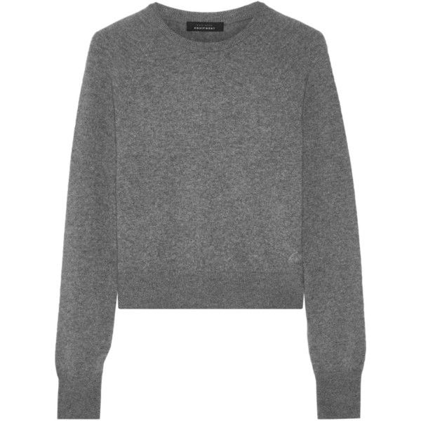 Kate Moss for Equipment Ryder cashmere sweater (2,485 HKD) via Polyvore featuring tops, sweaters, grey, gray top, gray sweater, crew neck sweaters, grey cashmere sweater and crew sweater