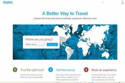 Μια πολύ ενδιαφέρουσα ιστοσελίδα δικτύωσης, το Dopios.com, δίνει τη δυνατότητα σε τουρίστες να ζήσουν σαν ντόπιοι με τη βοήθεια και τις συμβουλές των κατοίκων της πόλης που επισκέπτονται !