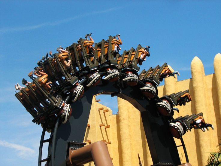 The Black Mamba inverted coaster at Phantasialand in Germany never lets up.