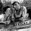Humphrey Bogart and Katharine Hepburn in The African Queen