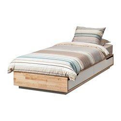 IKEA - MANDAL, Struttura letto con contenitore, , È in legno massiccio, un materiale naturale caldo e resistente.