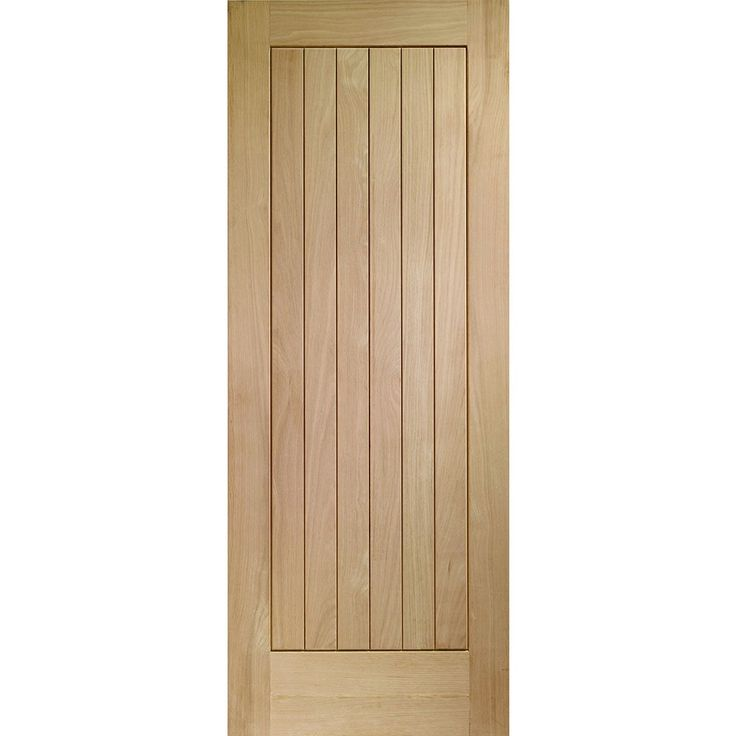 A Prefinished Internal Oak Fire Door Featuring 6 Vertical Oak Panels. The  Suffolk Oak Door
