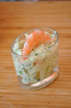 Salade fraicheur avocat crevette -