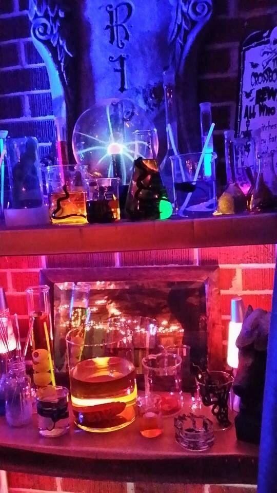 Halloween mad scientist lab.