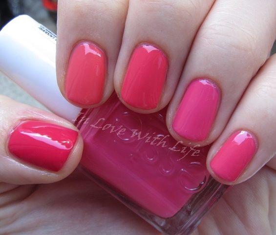 ♥ In Love With Life ♥: [Vergleich] Pink-Korall-Nagellacke - essie Status Symbol, Peach Daiquiri, Cute As A Button, Watermelon & OPI Strawberry Margarita  http://inlovewith-life.blogspot.com