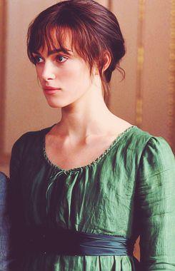 Keira Knightley as Elizabeth Bennet. Pride & Prejudice.