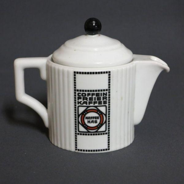 kaffee hag porzellan kaffekanne 1920 1925 advertising reklame propaganda antigua. Black Bedroom Furniture Sets. Home Design Ideas