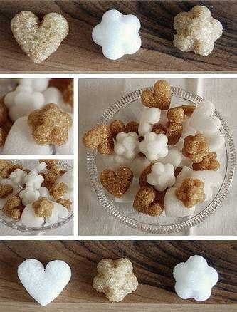 Поделки из сахара: сердечки и цветы. Мастер-класс.