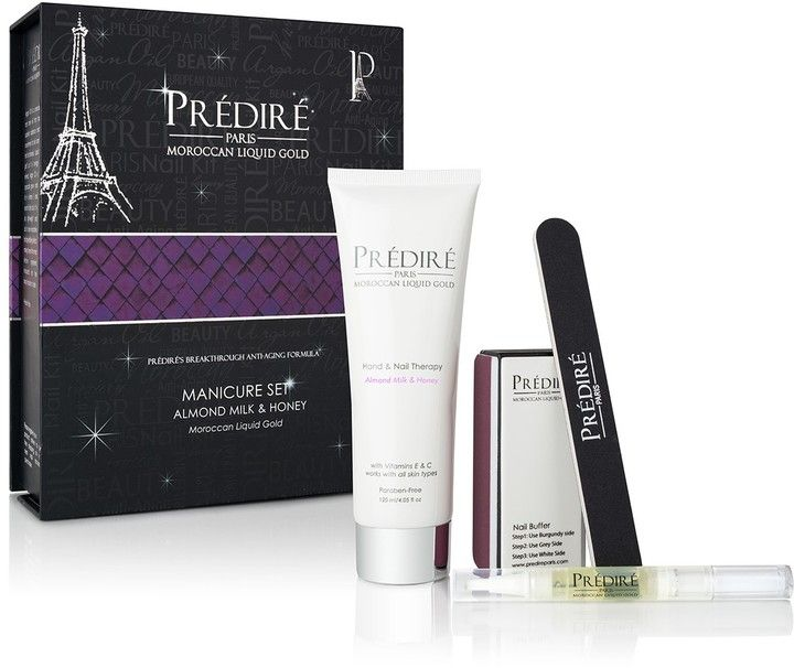 Predire Paris Skincare Almond Milk and Honey 4-Piece Manicure Set