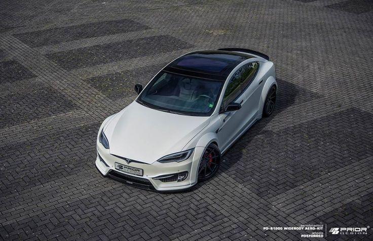 PRIOR-DESIGN PD-S1000 Widebody ero-Kit für Tesla Model S #tesla #teslamodels #テスラ  #widefender #priordesign  #prior #ワイドベンダー
