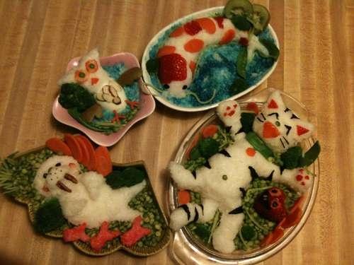 animal shaped food! so adorable!