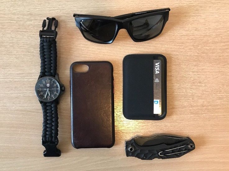 Daily use Kilo144  submitted by Kilo144  Oakley Jupiter Squared Sunglasses  Luminox Series 1820  Apple iPhone 7  Magpul DAKA Essentials Wallet  Pohl Force Bravo One D2 steel