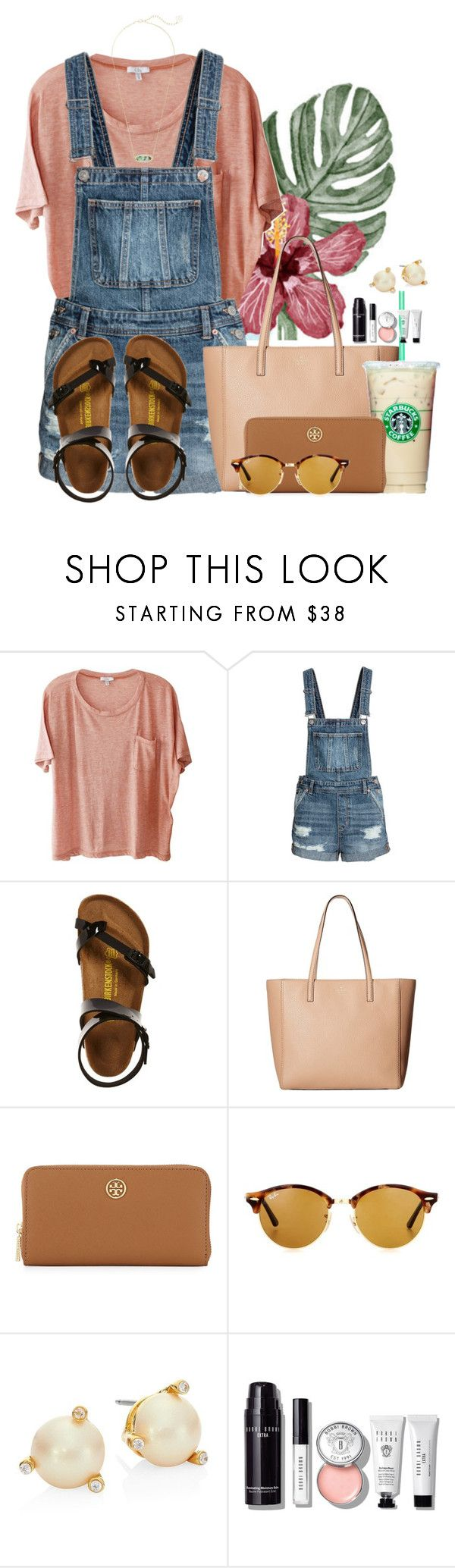 ~When life gets bitter, sweeten it with gratitude~ by flroasburn ❤ liked on Polyvore featuring Clu, Birkenstock, Kate Spade, Tory Burch, Ray-Ban, Bobbi Brown Cosmetics and Kendra Scott