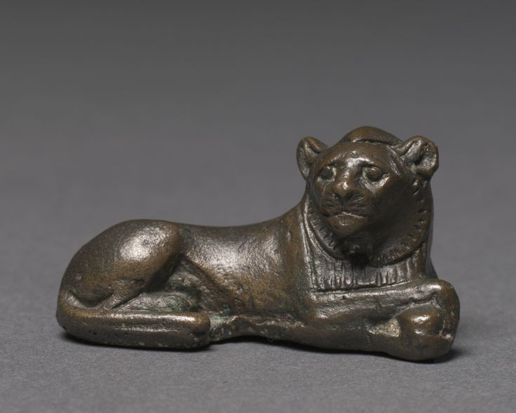 Weight in the Form of a Lion, c. 1391-1353 BC;  Egypt, New Kingdom, Dynasty 18 (1540-1296 BC), reign of Amenhotep III leaded tin-bronze, Overall - h:2.50 w:2.30 l:4.60 cm (h:15/16 w:7/8 l:1 3/4 inches) Wt: 44.1 grams Cleveland Museum of Art