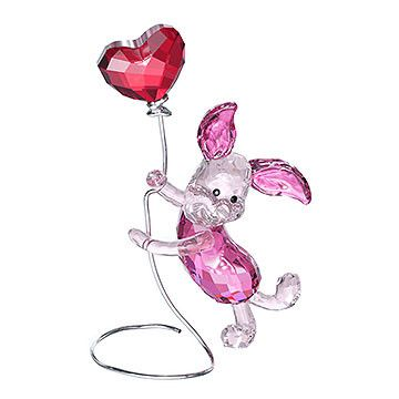 Playful, cute, and dynamic, Winnie the Pooh's friend Piglet sparkles in Rosaline and Rose crystal. He holds a heart-shaped Light Siam Satin crystal... Shop now