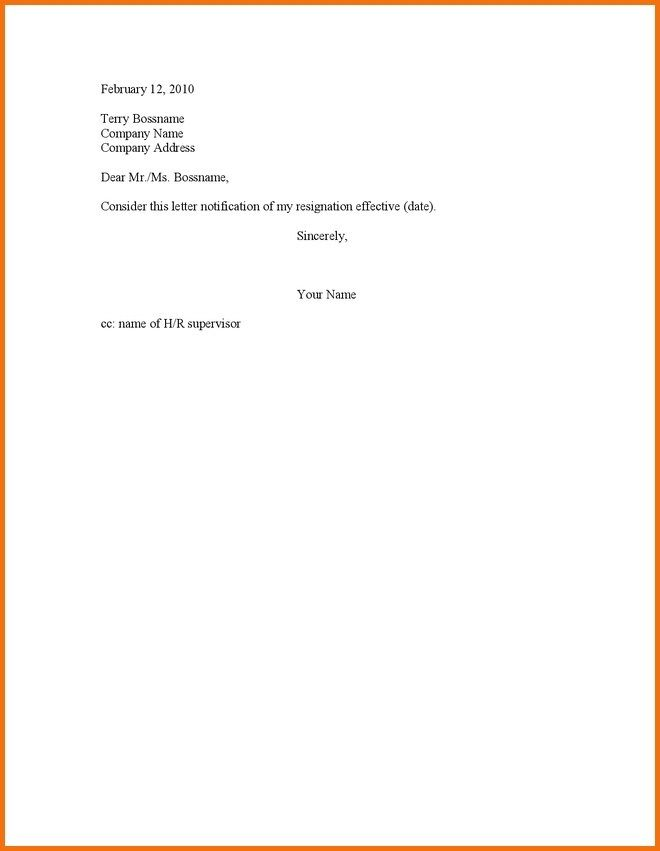 40 Resignation Letter Effective Immediately Resignation Letter
