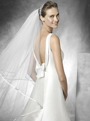 Elegant Mikado Satin A-line Wedding Dress - Tona by Pronovias