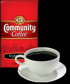 Community Coffee, Dark Roast...only the best.