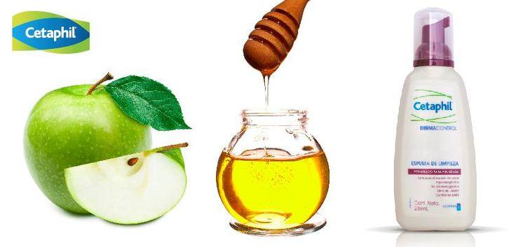 ¿Tu piel es grasosa, eres propensa a tener acné? Esto es para ti. Mascarilla de manzana  1- ralla media manzana 2- mézclala con 5 cucharadas de miel tibia 3- lava bien tu cara, con un limpiador especial para Piel grasa como Cetaphil Dermacontrol. 4- aplica la mezcla en tu rostro y deja reposar 10 minutos y enjuaga.#TipCetaphil
