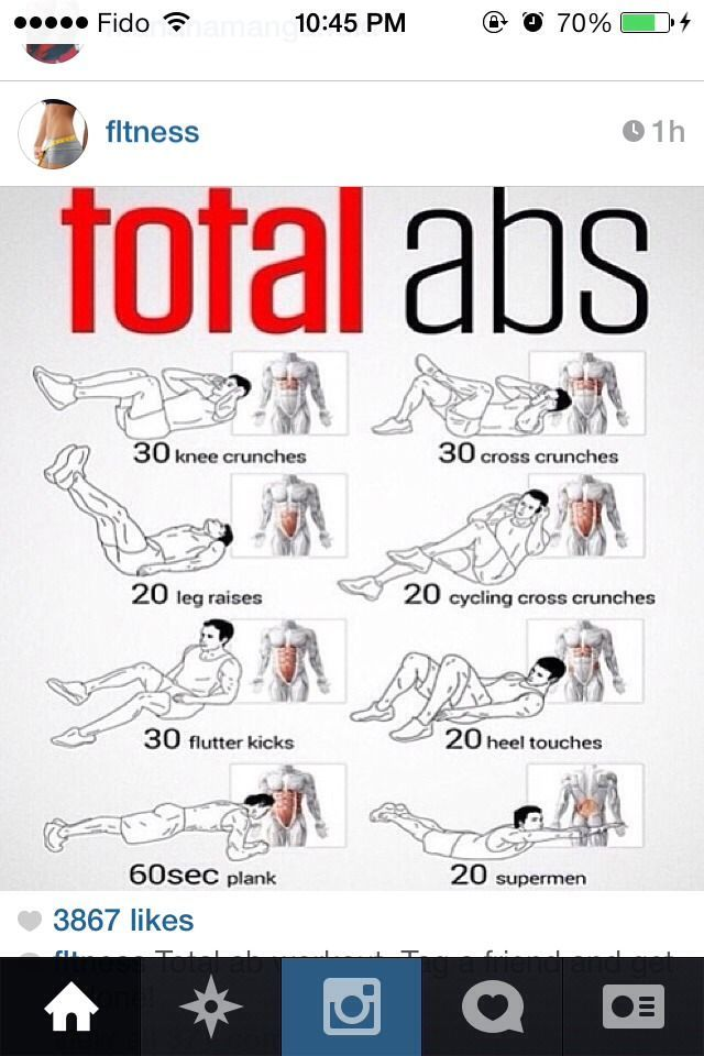 Ab Workout- my fave ab workout i've found so far!! hate using ab machines at the gym, so this is perfect