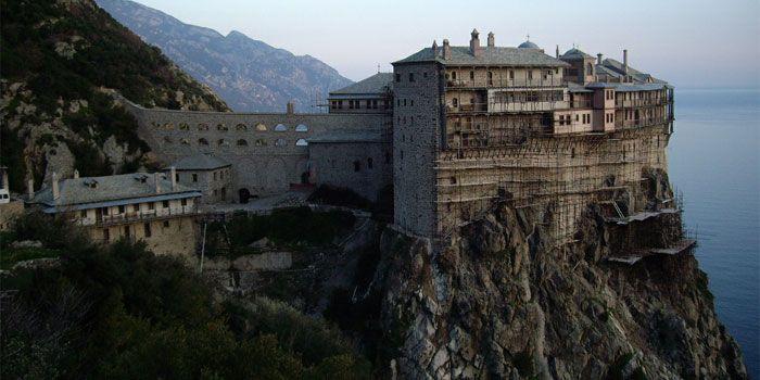 VISIT GREECE| Monastery of Simonos Petras  Holy Mount #Athos #Macedonia #Greece