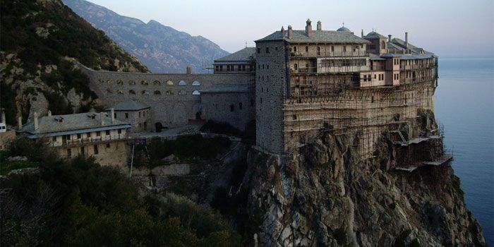 VISIT GREECE  Monastery of Simonos Petras  Holy Mount #Athos #Macedonia #Greece