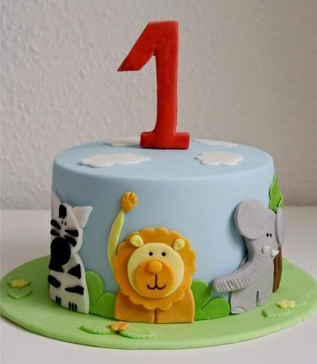 Geburtstagstorte zum 1. Geburtstag   – Geburtstagskuchen für Kinder