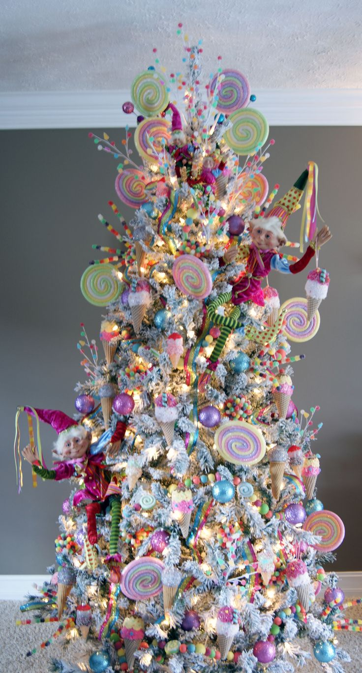 Candy Wonderland Tree!!! Bebe'!!! Love this Pink Candyland Pink Christmas Tree!!!