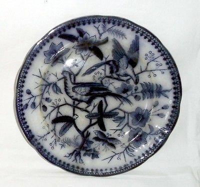 sehr schöner Keramik Teller Villeroy & Boch Fasan blau 21,5 cm um 1860 gebraucht kaufen bei Hood.de