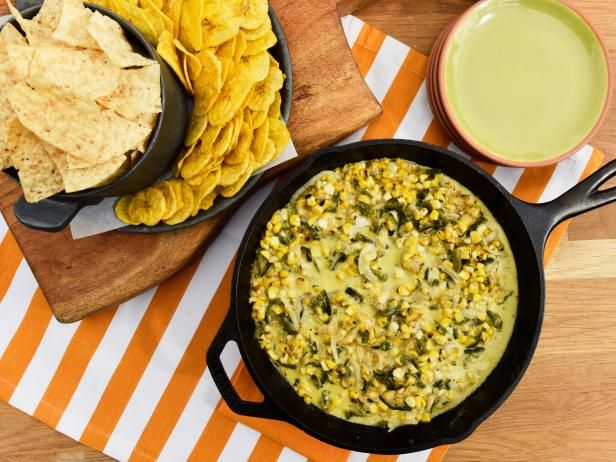 Get Cheesy Corn Skillet Dip Recipe from Food Network