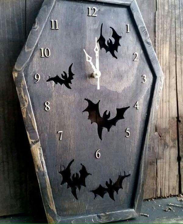 Coffin Clock Halloween Decor Pinterest Clocks
