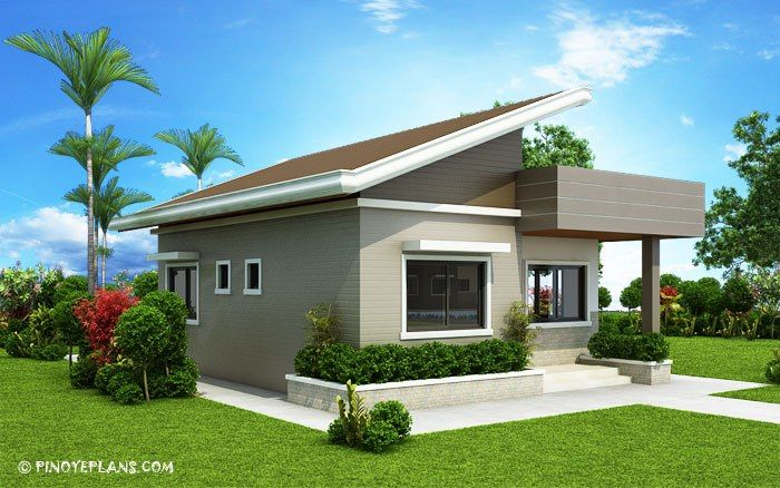 This Two Bedroom Small House Design Has A Total Floor Area Of 61 Square Meters That Can Be Built I Small House Design House Design Pictures House Design Photos