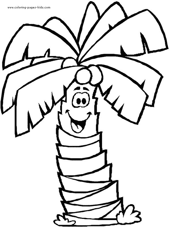 Banana Trees Laugh Coloring Pages For Kids Printable