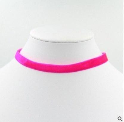 2017 nouveau collier de tour de cou velours rose femmes colliers chokers – intoth …   – choker necklace