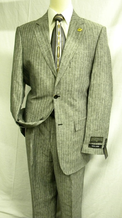 c672be82adb0 Stacy Adams Suits Charcoal Pinstripe Linen Suit 3829-000 | suits | Stacy  adams suits, Suits, Mens fashion suits