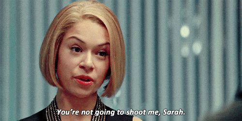 Pin for Later: A Quick Guide to Why Tatiana Maslany Deserves Her Emmy Nomination Here's Rachel Telling Off Sarah, Who's Disguised as Cosima.
