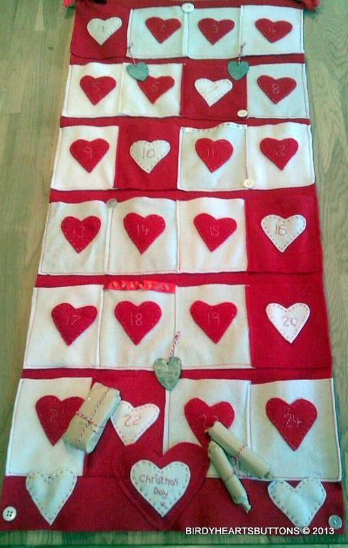 Scandinavian handmade christmas advent by Birdyheartsbuttons, £30.00