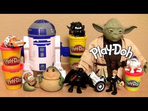 Play Doh STAR WARS R2-D2 Playset Darth Mater Lightning McQueen The Clone Wars Disney Pixar Cars 2 - YouTube