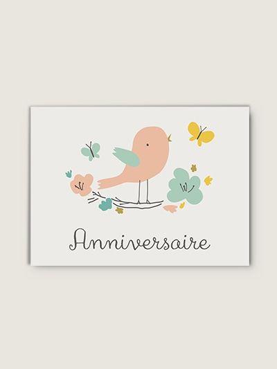 10 petites Cartes d'anniversaire : Couronne Fleurie