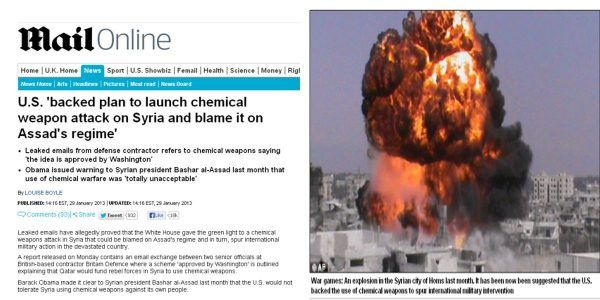 Deleted Daily Mail Article: US Backed Plan For Chemical Weapon Attack in Syria To Be Blamed on Assad #news #alternativenews