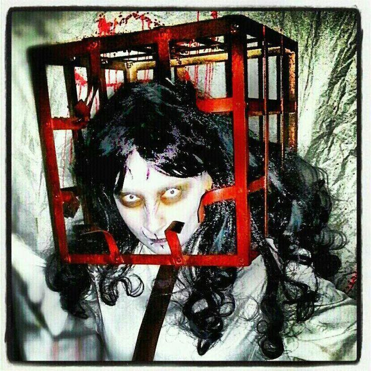 "Vero 2  halloween 2012  13 fantasmas ""Chacal"". Makeup chacal."