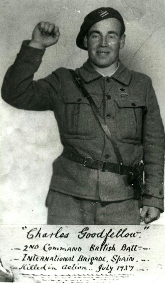 Voluntario británico de las Brigadas Internacionales
