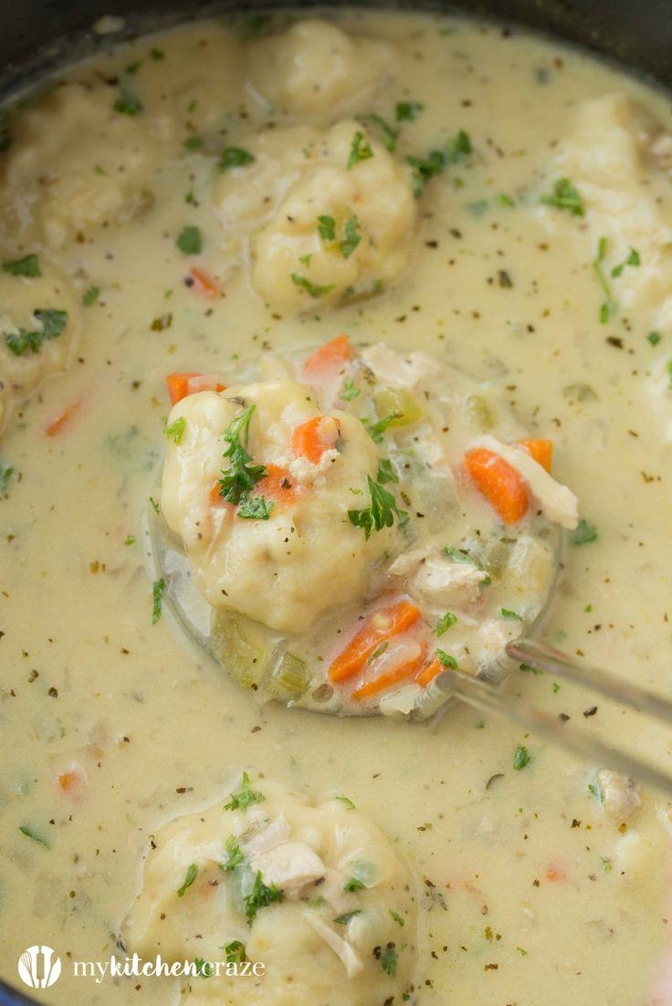 Chicken Dumpling Soup - My Kitchen Craze.....try the dumplings at least dee!